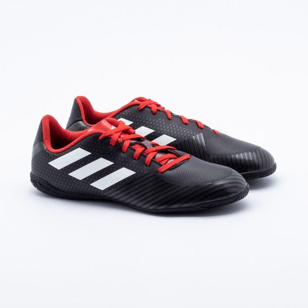 80d158b647 Chuteira Futsal Adidas Artilheira III IN Preto e Vermelho - Gaston ...