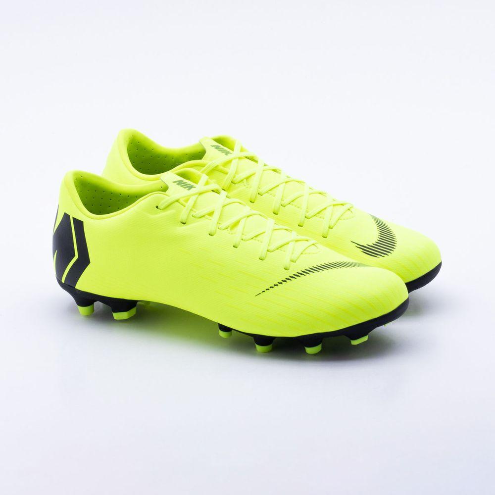 439f61cb207bf Chuteira Campo Nike Mercurial Vapor XII Academy Verde Limão - Gaston ...