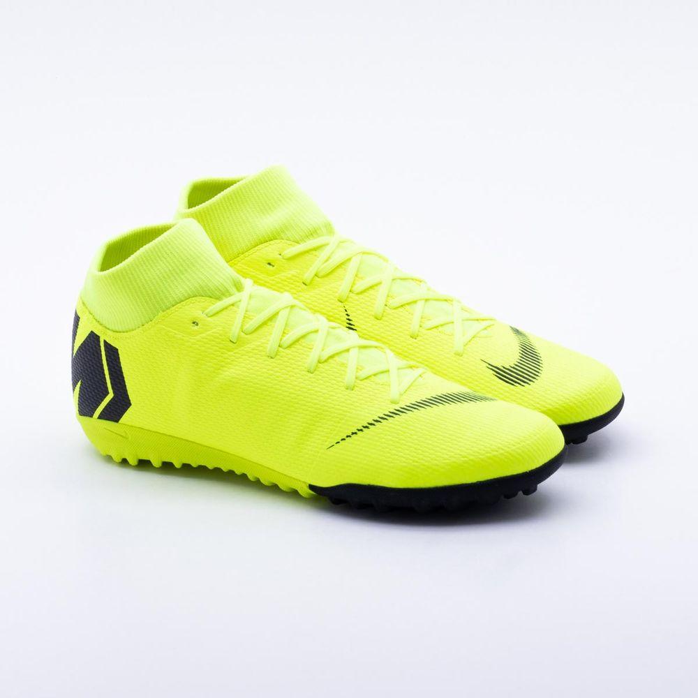 f6bacfac2d Chuteira Society Nike MercurialX Superfly VI Academy Verde Limão - Gaston -  Paqueta Esportes