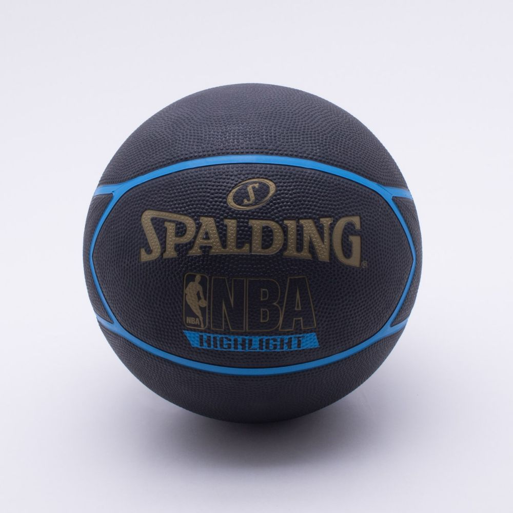 Bola Basquete Spalding NBA Highlight T7 Preto e Dourado - Gaston ... d7dd44dc9be27