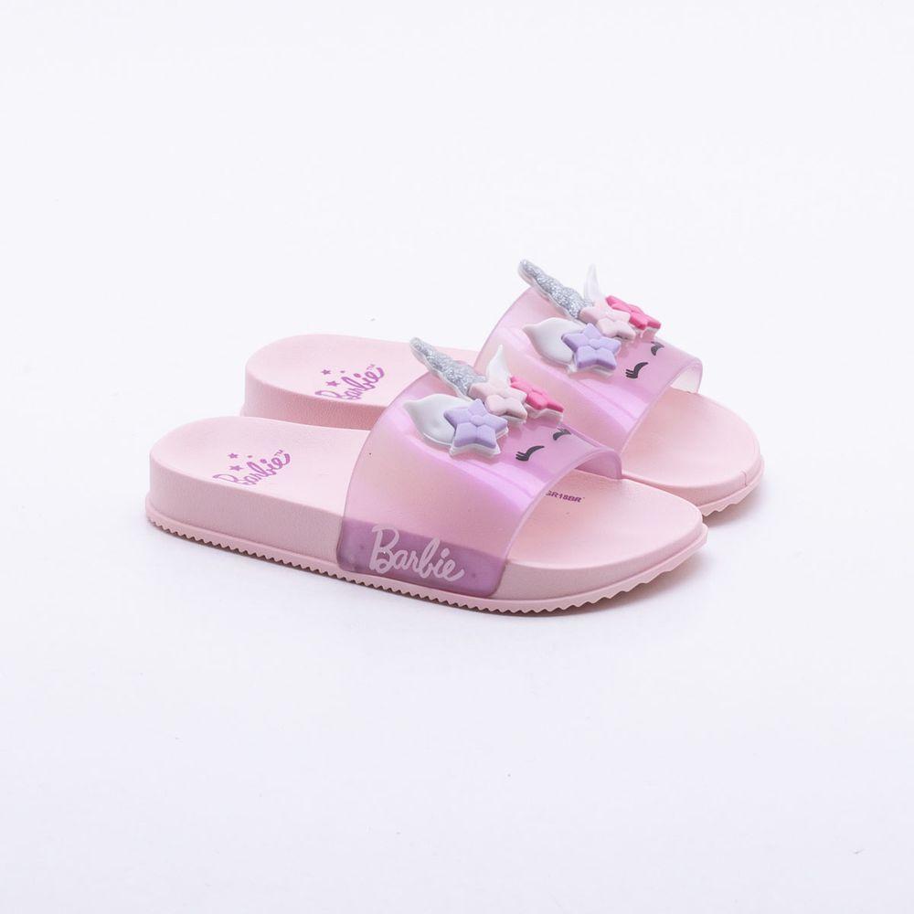 05a50dfd0fb Slide Grendene Kids Infantil Barbie Rosa Rosa - Gaston - Gaston
