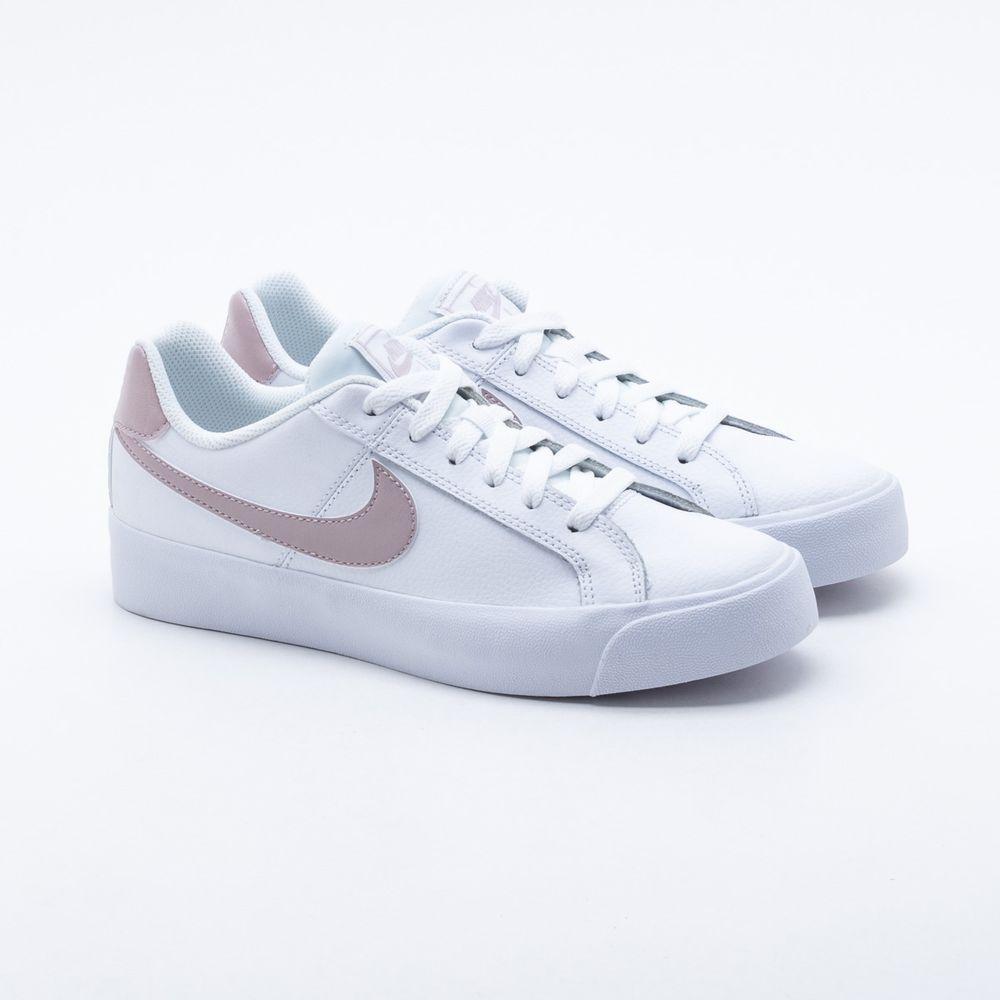 9e777a780e Tênis Nike Court Royale Branco Feminino Branco e Rose - Gaston ...
