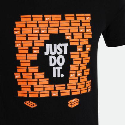 6fcc95c5ed21f Camiseta Nike NSW TEE Shoebox JD Preta Infantil Preto - Gaston - Paqueta  Esportes