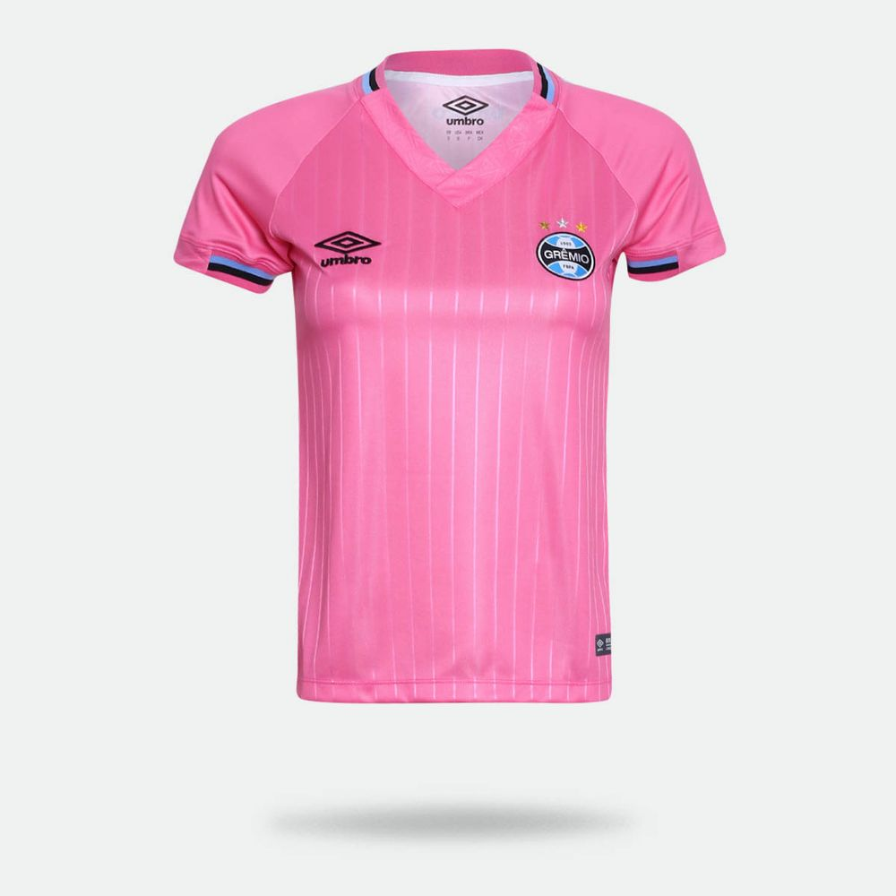 d99bbc785a Camisa Umbro Grêmio 2018 Outubro Rosa Feminina Rosa - Gaston ...