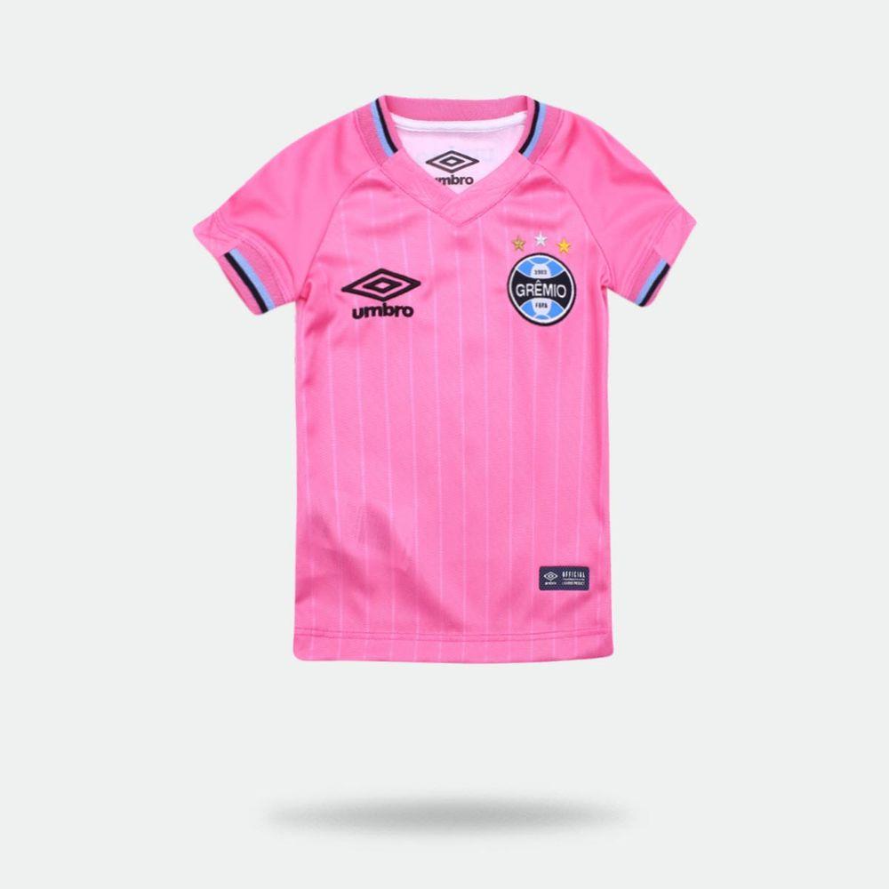 5def3fce8ebb9 Camisa Umbro Grêmio 2018 Outubro Rosa Infantil Rosa - Gaston ...