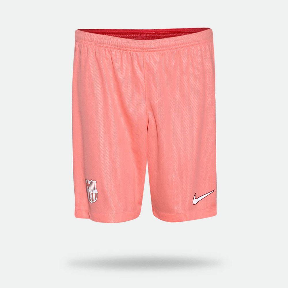 fc71c5b190 Calção Nike Barcelona 2018/2019 III Laranja Masculino Laranja Neon ...