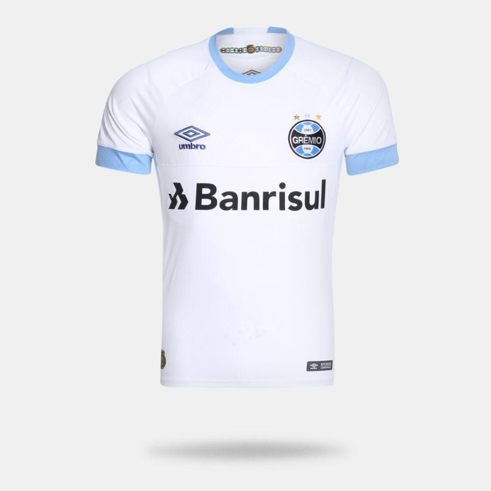 d2e2769282 Camisa Umbro Grêmio 2018 II Sem Número Torcedor Branca Masculina ...