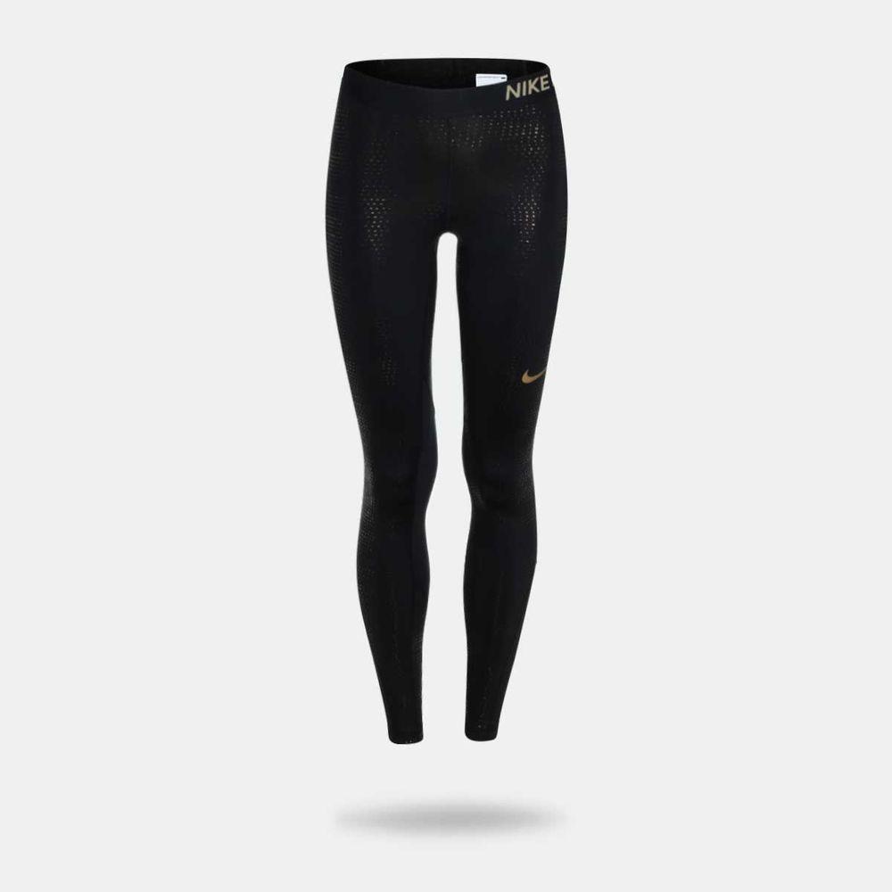 3d23f24e346452 Legging Nike Pro Crop Metallic Preta