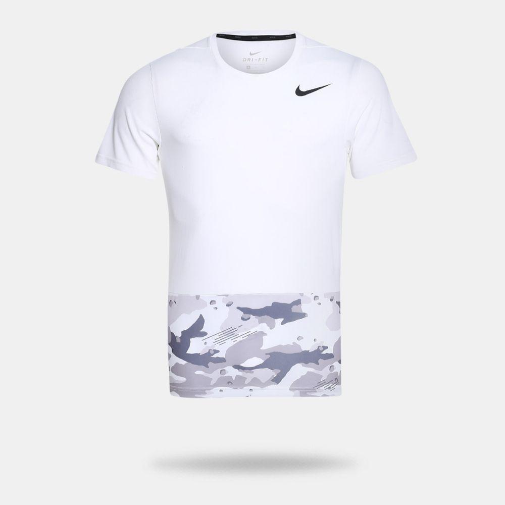 ceda4b8da7 Camiseta Nike Breathe Branca Masculina Branco - Gaston - Paqueta ...