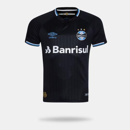 Camisa Umbro Grêmio 2018 III Torcedor Sem Número Preta Masculina 9b9f5c29a791a