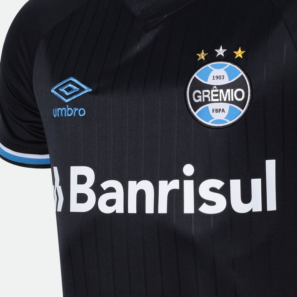 bfdfd6c0e Camisa Umbro Grêmio 2018 III Torcedor Sem Número Preta Masculina ...