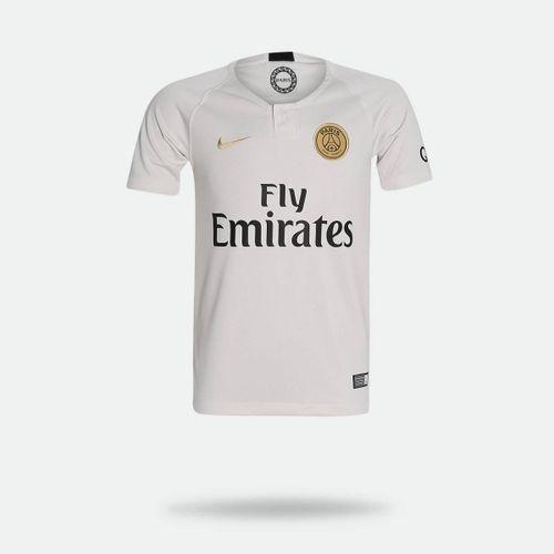 Camisa Nike PSG II 2018 2019 Torcedor Bege Infantil b312944729606