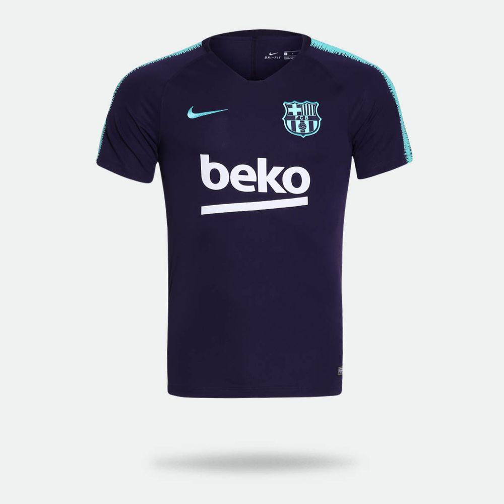 Camisa Nike Barcelona 2018 2019 Treino Roxa Masculina Roxo - Gaston ... 52fae823ea85d