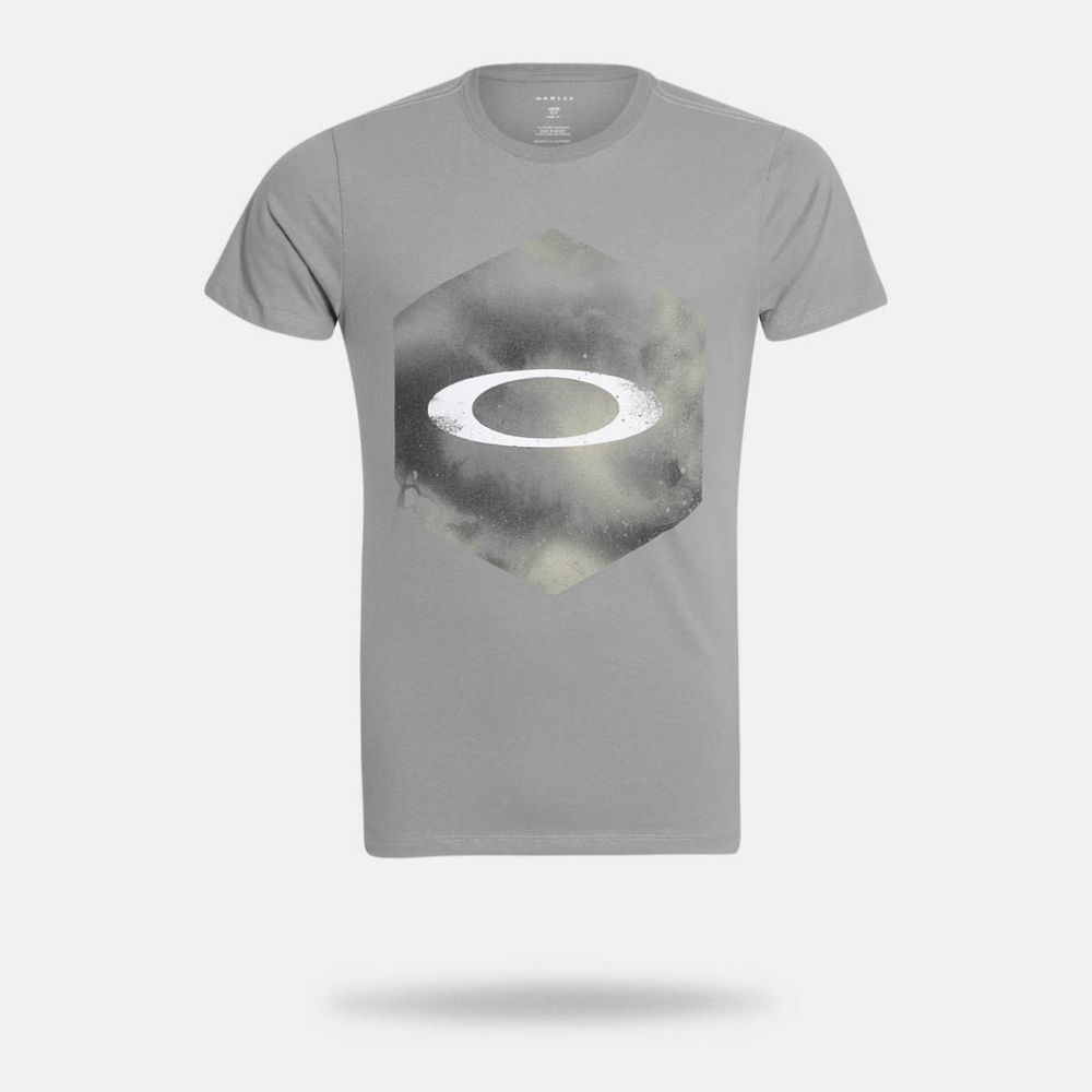 Camiseta Oakley Smudge Hex Tee Cinza Masculina Cinza - Gaston ... 116cd737dd86a
