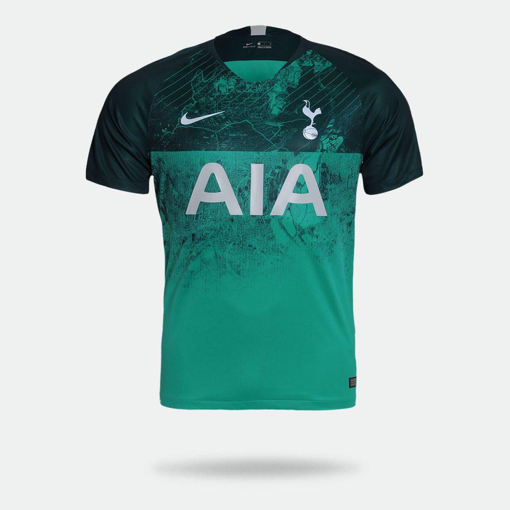 655715218f Camisa Nike Tottenham 2018 2019 III Torcedor Verde Masculina Verde ...