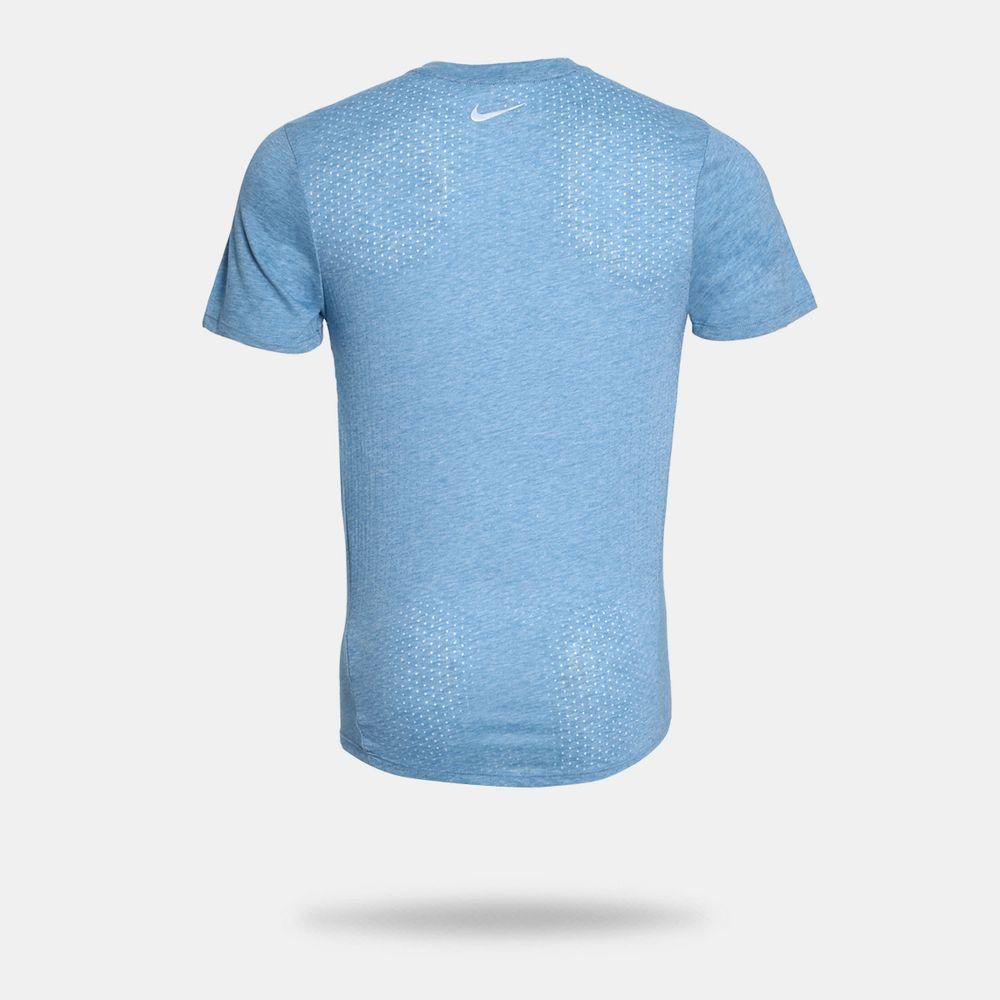 33175612cc Camiseta Nike Dri-Fit Rise 365 Azul Masculina Azul - Gaston ...