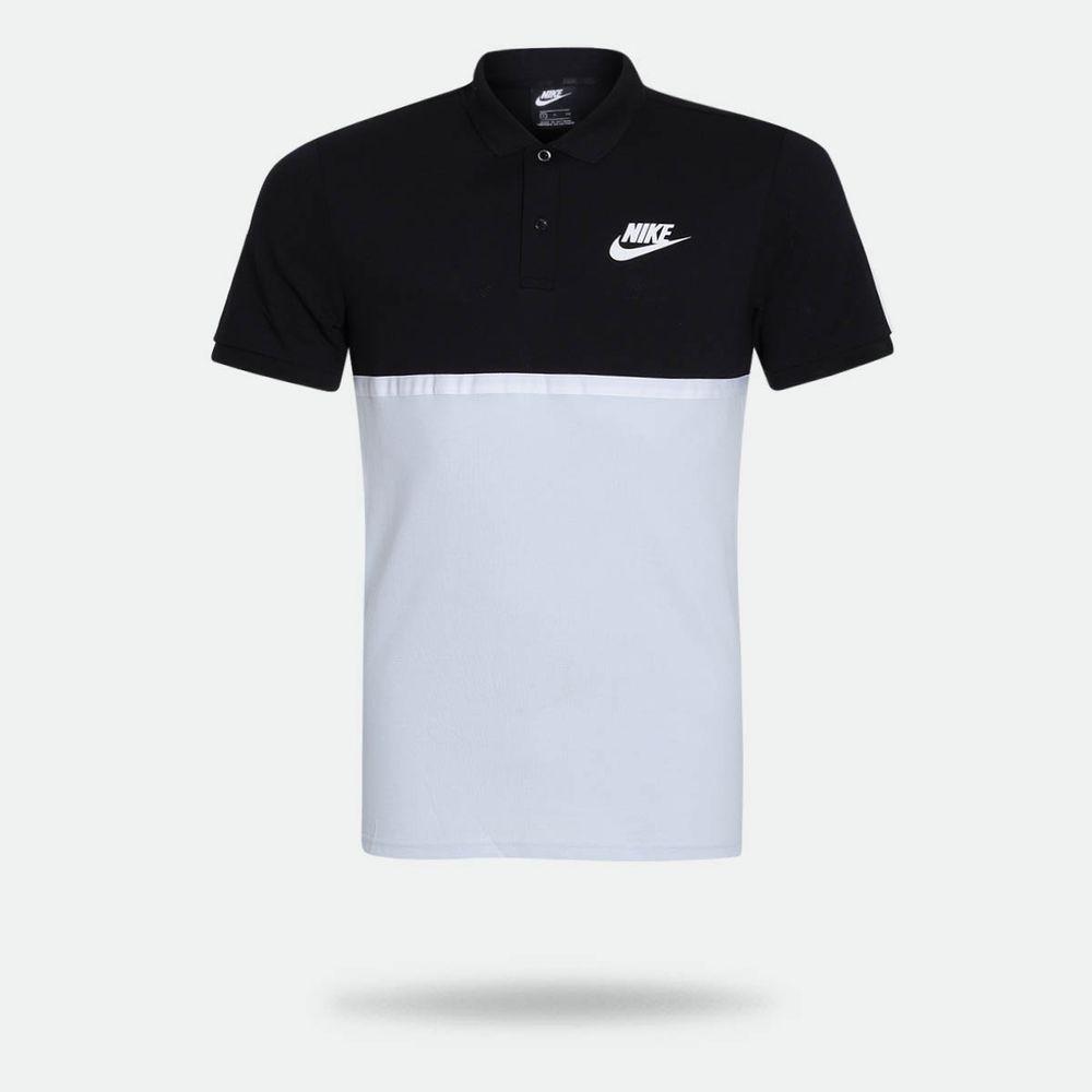 272a91836c Camisa Polo Nike Sportswear Matchup Preta Masculina Preto e Cinza ...