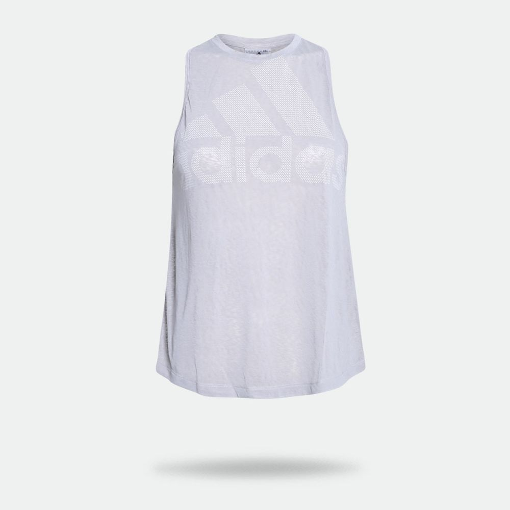 3bd309d89bd90 Camiseta Regata Adidas Magic Logo Cinza Feminina Cinza - Gaston ...