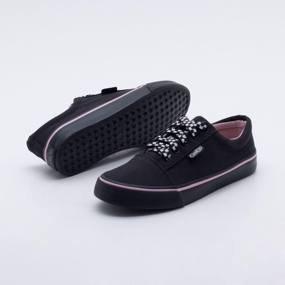 157ee8ed7e Tênis Capricho Shoes Break Grid Lace Preto Preto e Rosa - Gaston ...