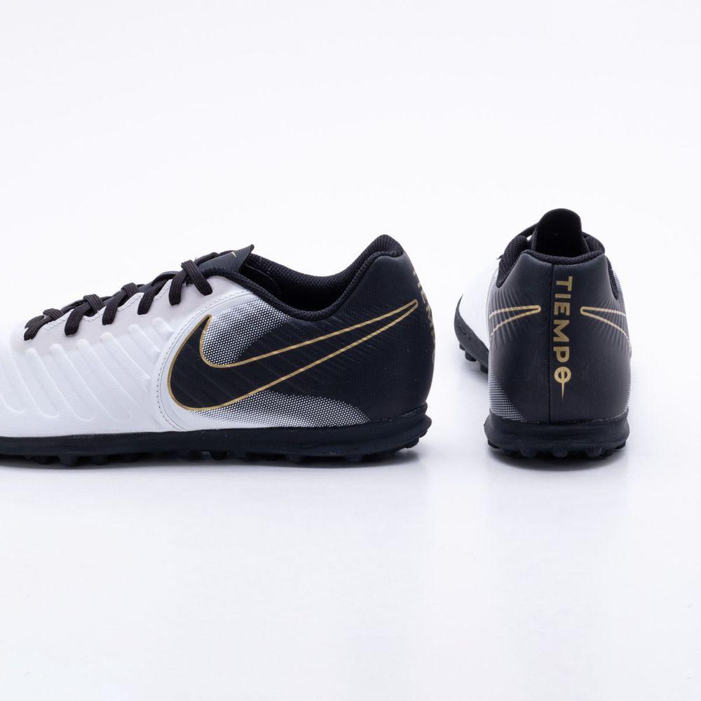 65bdf4afe Chuteira Society Nike TiempoX Legend VII Club TF Branco e Preto ...