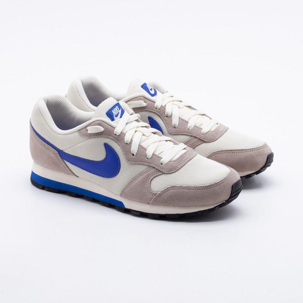 952cca6930b981 Tênis Nike MD Runner 2 Bege Masculino Bege e Azul - Gaston - Gaston