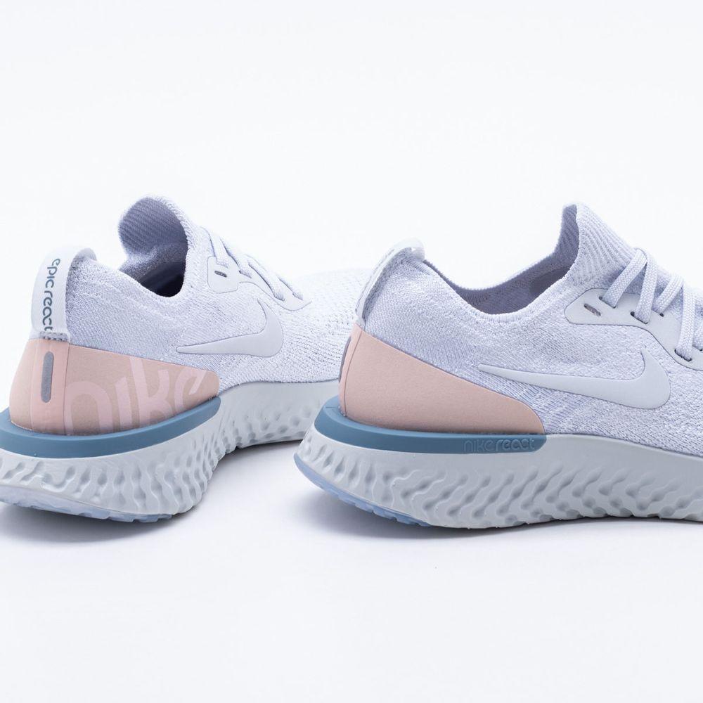 Tênis Nike Epic React Flyknit Feminino Azul - Gaston - Paqueta Esportes eeaff0075d447