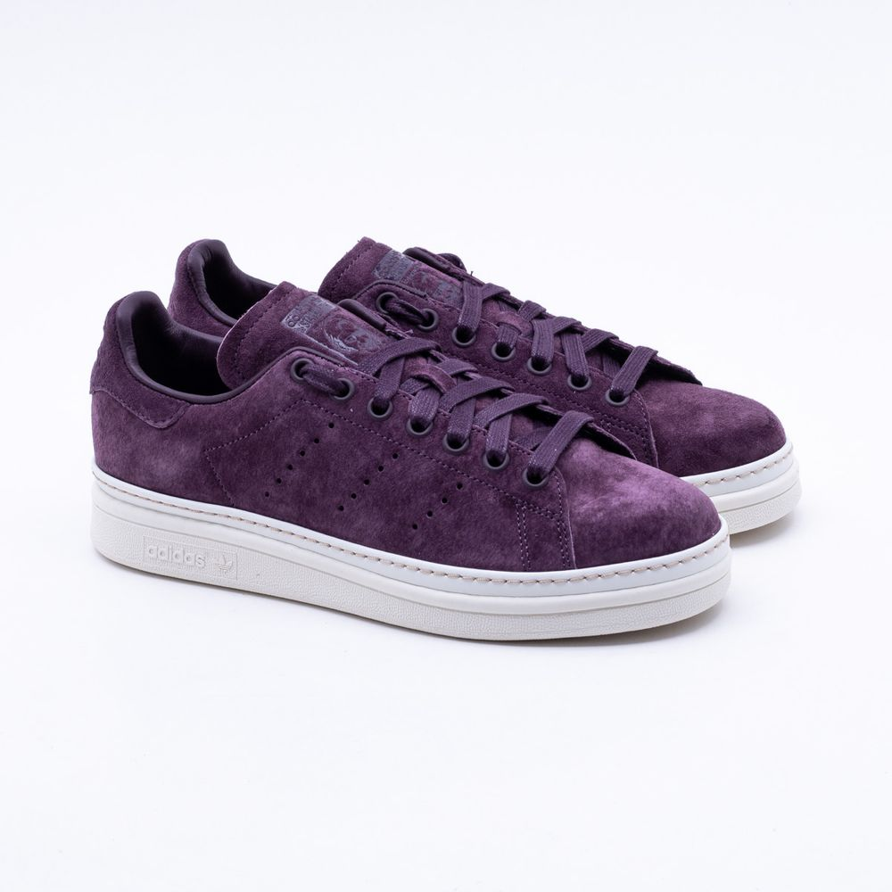 cd6cddee88d Tênis Adidas Stan Smith New Bold Originals Roxo Feminino Roxo ...
