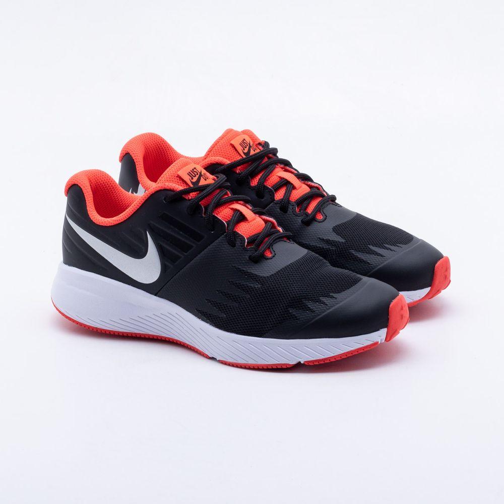 Tênis Nike Infantil Star Runner Just do It Preto Preto e Coral ... 53be42598ba8a