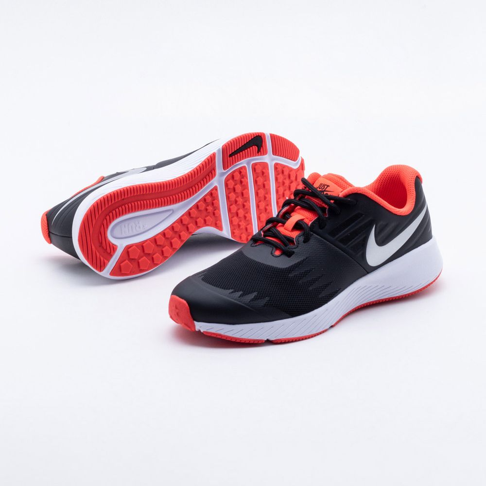 Tênis Nike Infantil Star Runner Just do It Preto Preto e Coral - Gaston - Paqueta  Esportes bbb4721de3379