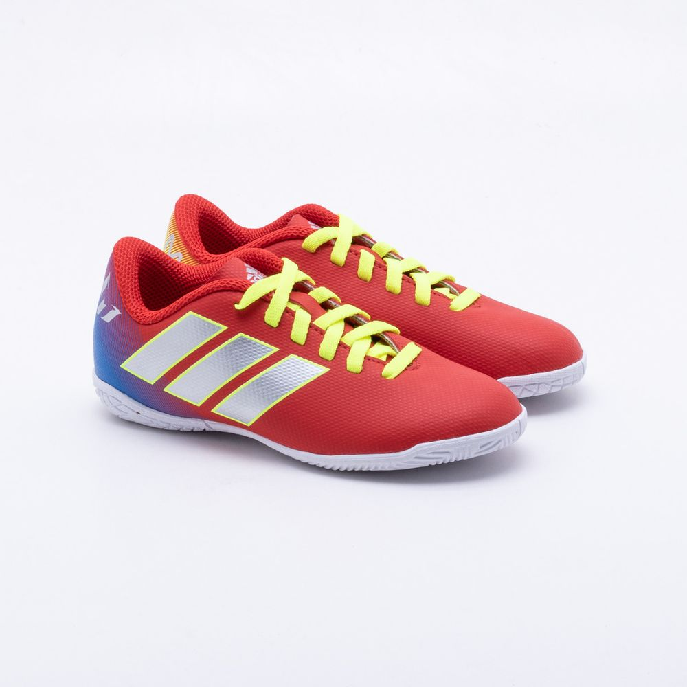 39f1448fa1 Chuteira Futsal Adidas JR Nemeziz Messi Infantil Vermelho - Gaston ...
