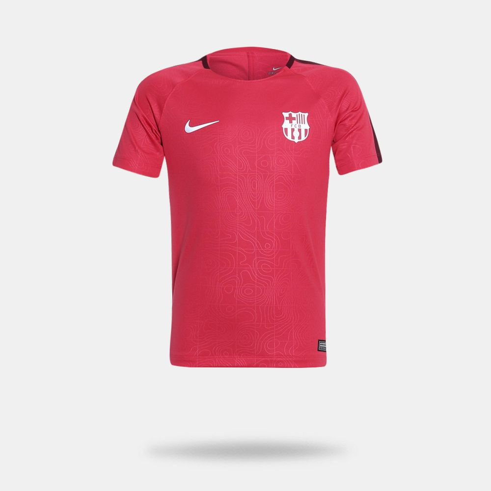 Camisa Nike Barcelona 2018 2019 Torcedor Vermelha Infantil Vermelho ... c26115508ecdf