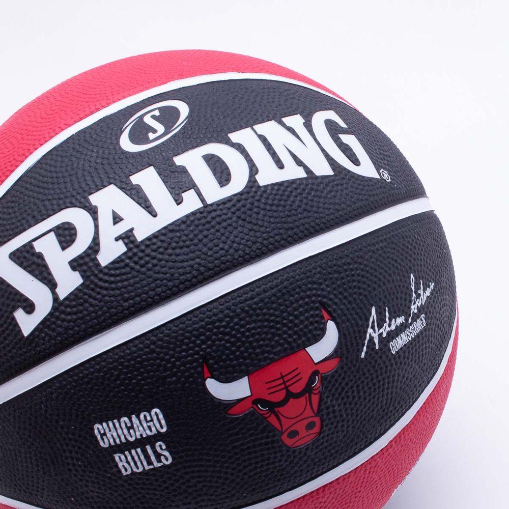 0134a4447e Bola Basquete Spalding NBA Chicago Bulls T7 Preto e Vermelho ...