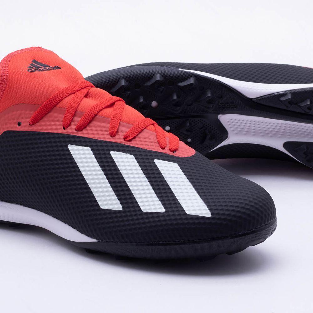 0d14621d71a2a Chuteira Society Adidas x 18.3 TF Preto e Vermelho - Gaston ...