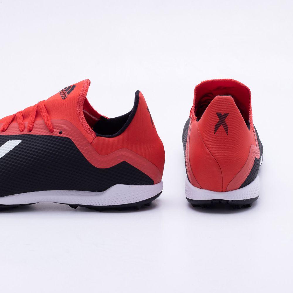 66de83c5e70 Chuteira Society Adidas x 18.3 TF Preto e Vermelho - Gaston ...