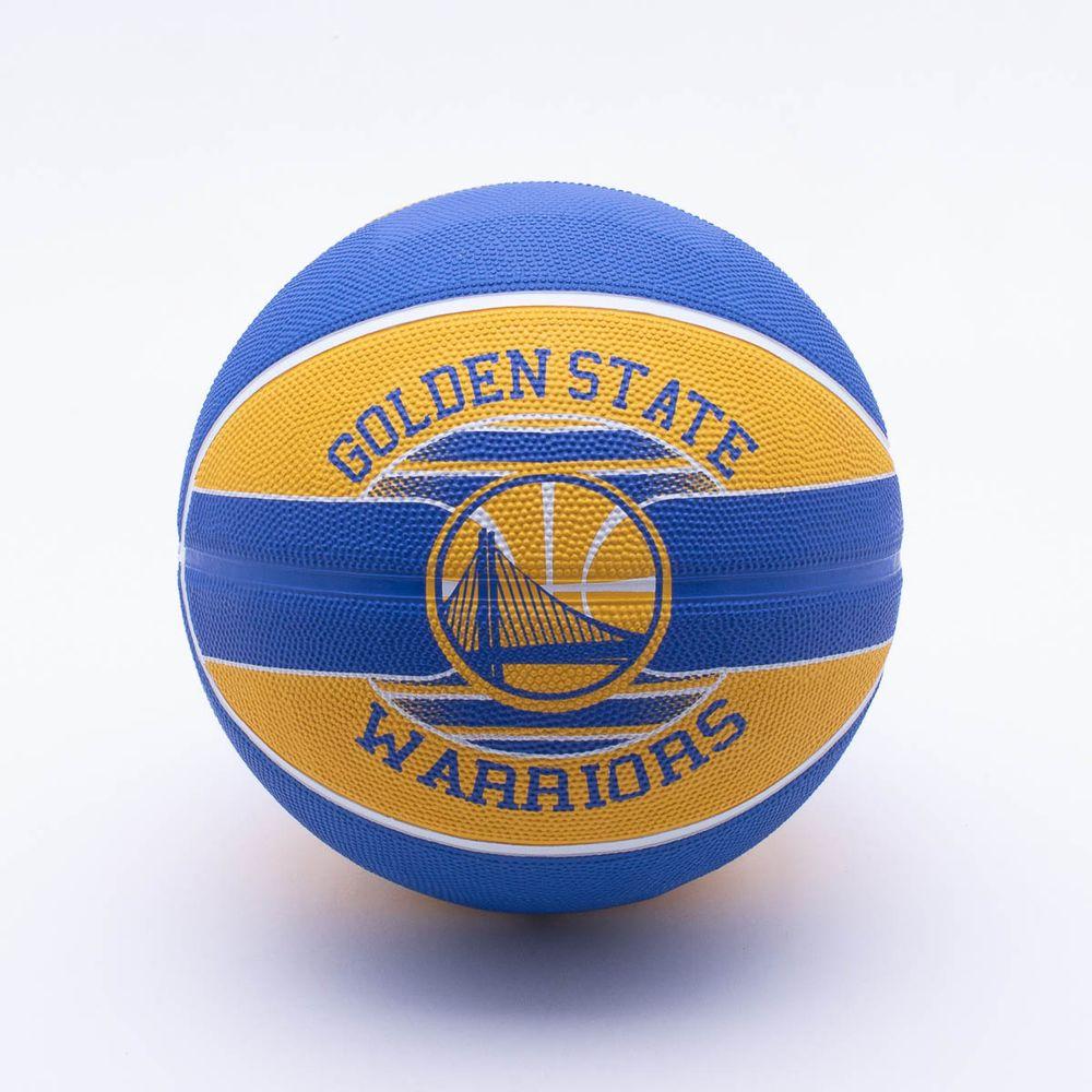 Bola Basquete Spalding NBA Golden State Warriors T7 Amarelo e Azul ... d59d59980436d