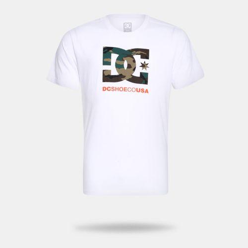 b5c7a84fae Camiseta DC Shoes Bas Camo Filling Star Branca Masculina