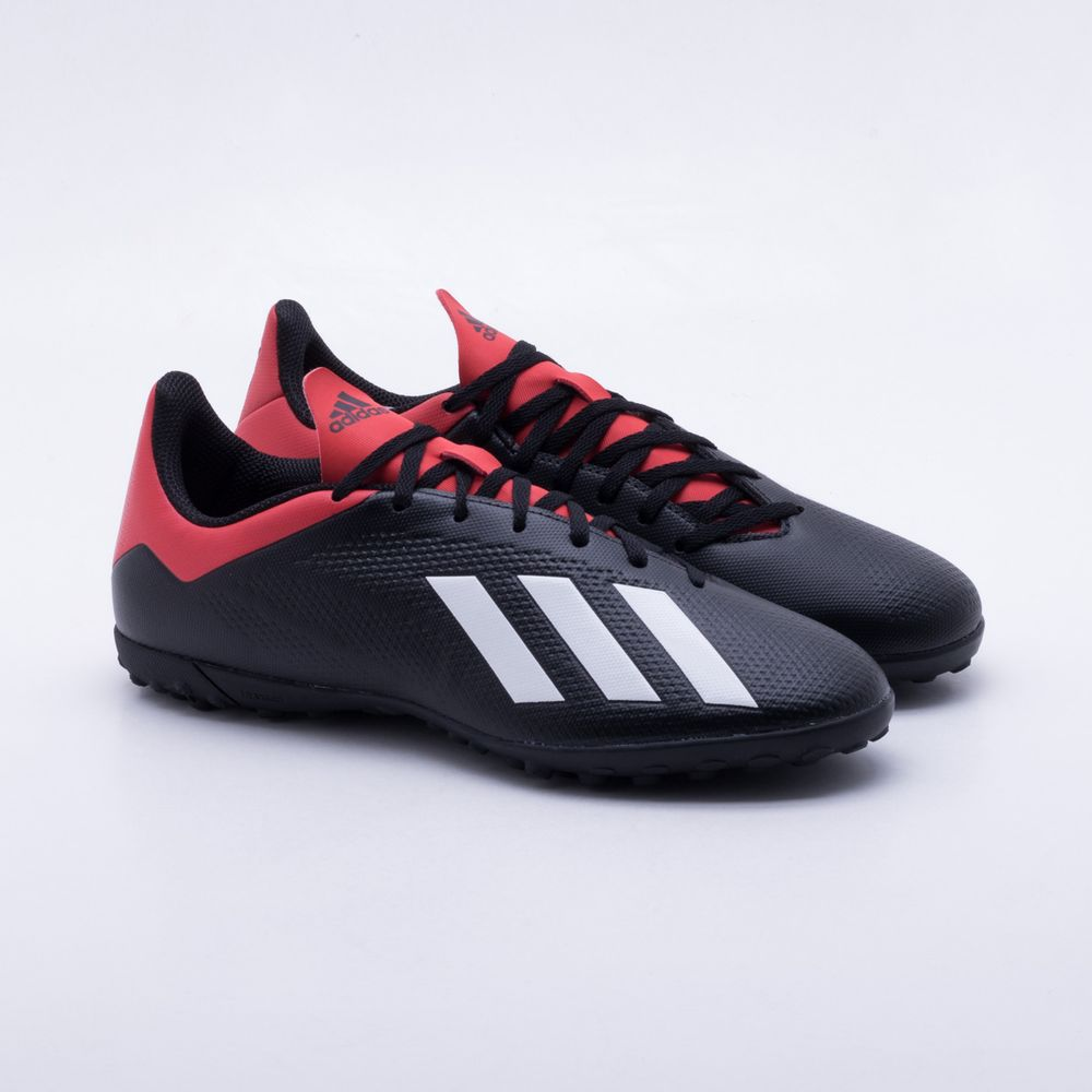 Chuteira Society Adidas X Tango 18.4 TF Preto e Vermelho - Gaston ... 552d404a1b385