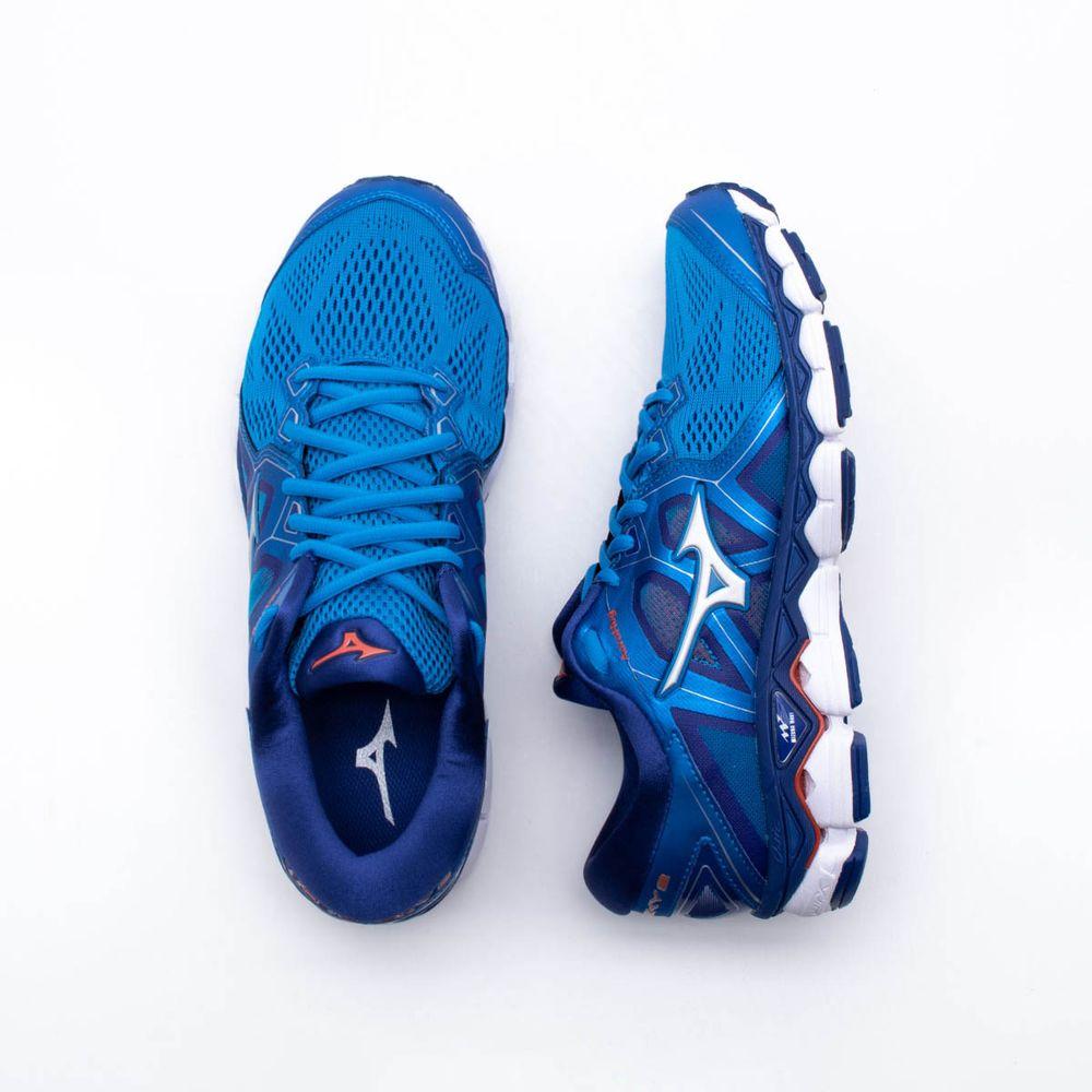 Tênis Mizuno Wave Sky 2 Masculino Azul - Gaston - Paqueta Esportes 9a63289a230af