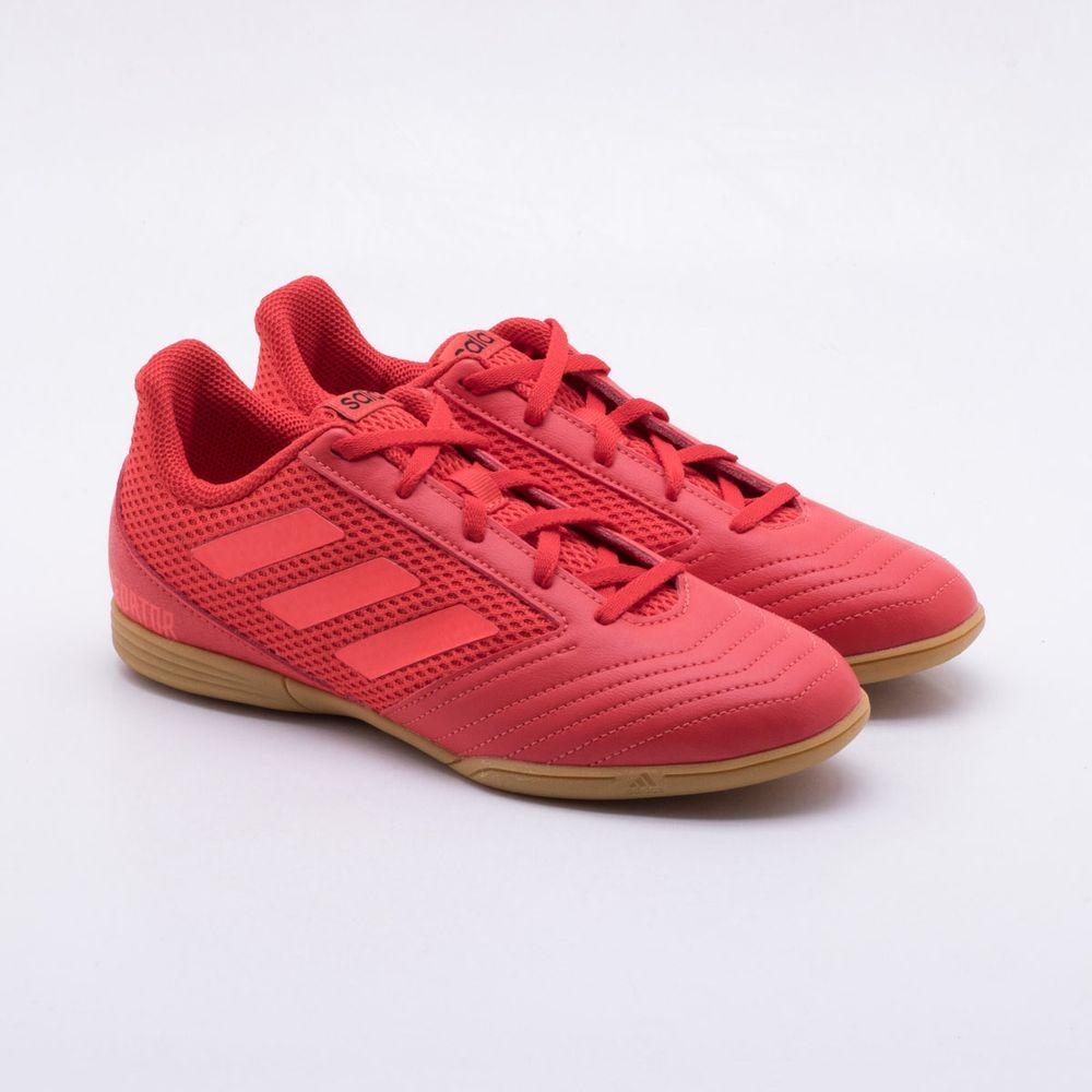 773ba17562 Chuteira Futsal Adidas Predator 19.4 IN Infantil Vermelho - Gaston ...