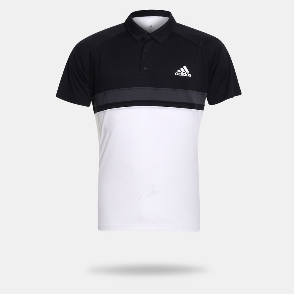 Camisa Polo Adidas Colorblock Club Preta Masculina Preto - Gaston ... 2870799736476
