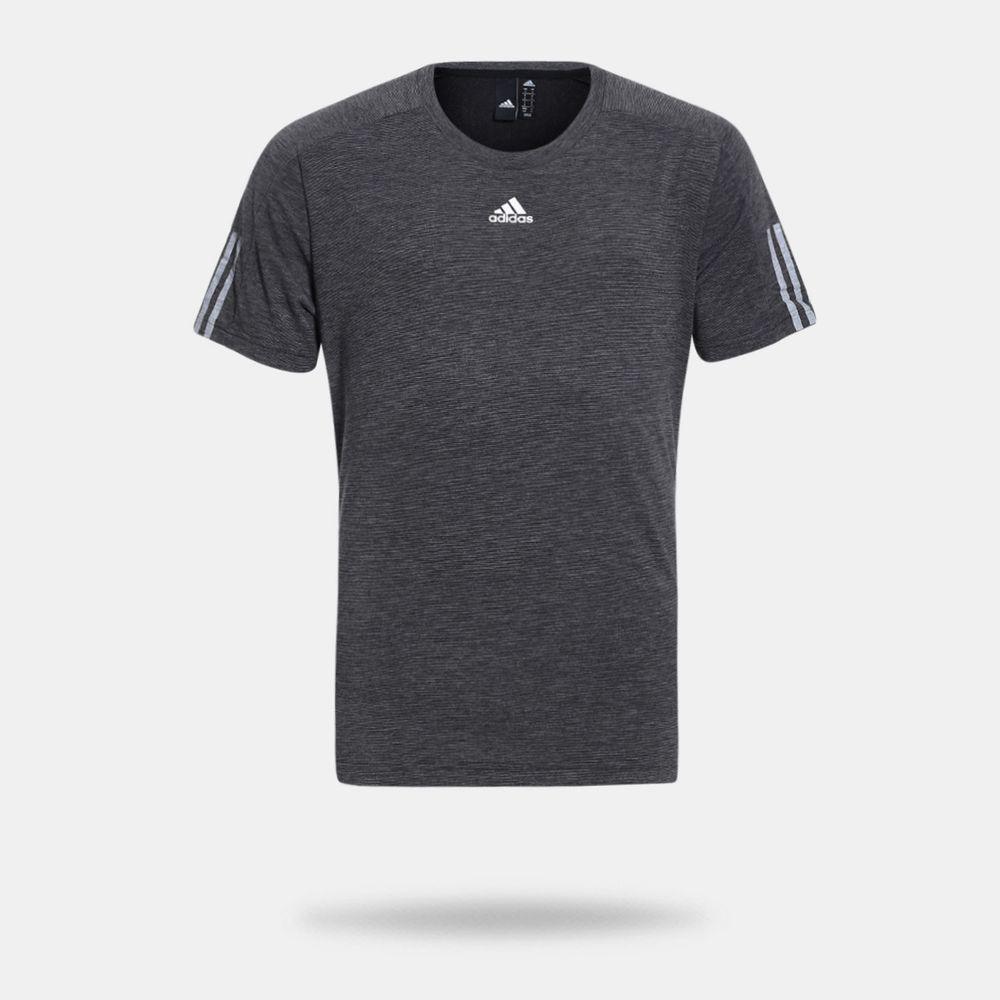 2b31558644 Camiseta Adidas ID Stadium 3 Stripes Preta Masculina Preto - Gaston ...
