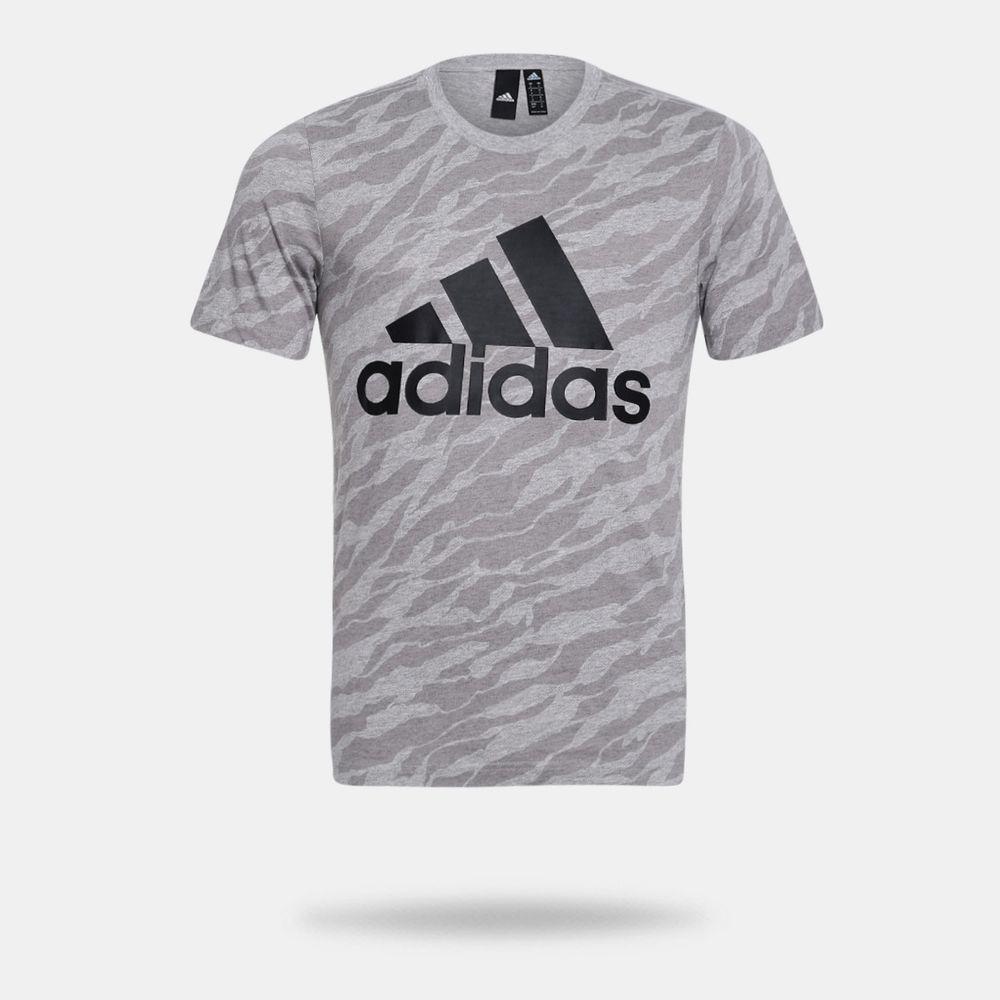 Camiseta Adidas Ess AOP Tee Cinza Masculina Cinza - Gaston - Paqueta ... 79c5e62730816