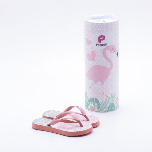 Chinelo Pampili Infantil Flamingo Coral