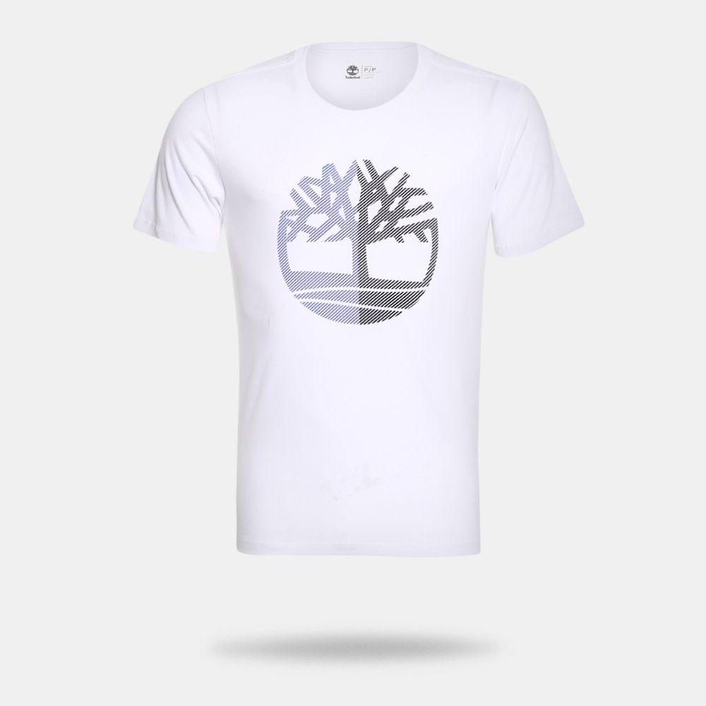 Camiseta Timberland SS Kennebec RV Seasonal Branca Masculina Branco ... a890b98ec32d2
