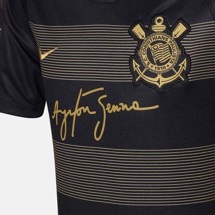 Camisa Nike Corinthians 2018 2019 III Torcedor Preta Infantil Preto -  Gaston - Paqueta Esportes fc3b18591c6