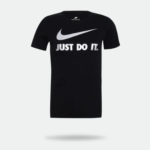 57c6cc2a037af Camiseta Nike NSW Just Do It Preta Feminina