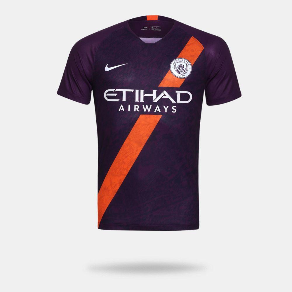 Camisa Nike Manchester City 2018 2019 III Torcedor Roxa Masculina Roxo -  Gaston - Paqueta Esportes ab9ad1a760a75