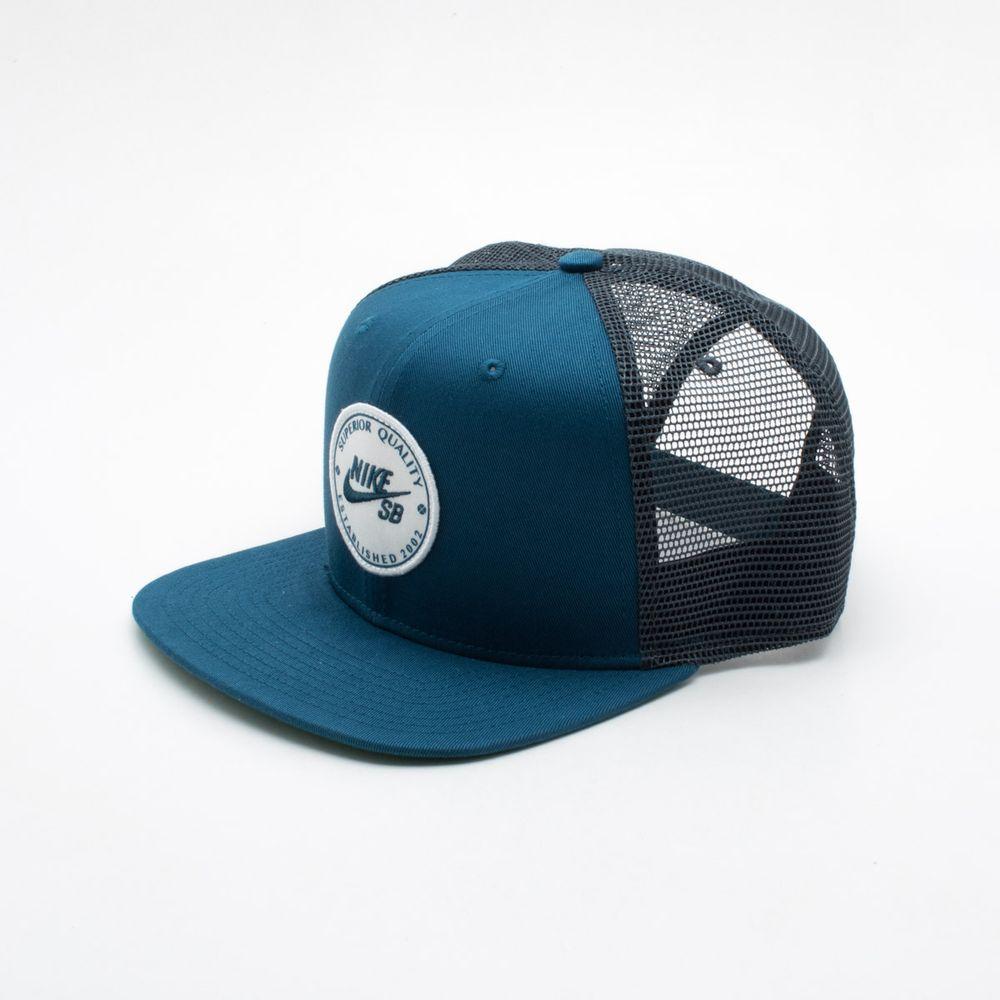 Boné Nike SB Patch Trucker Azul Azul - Gaston - Paqueta Esportes 6850b158fb2