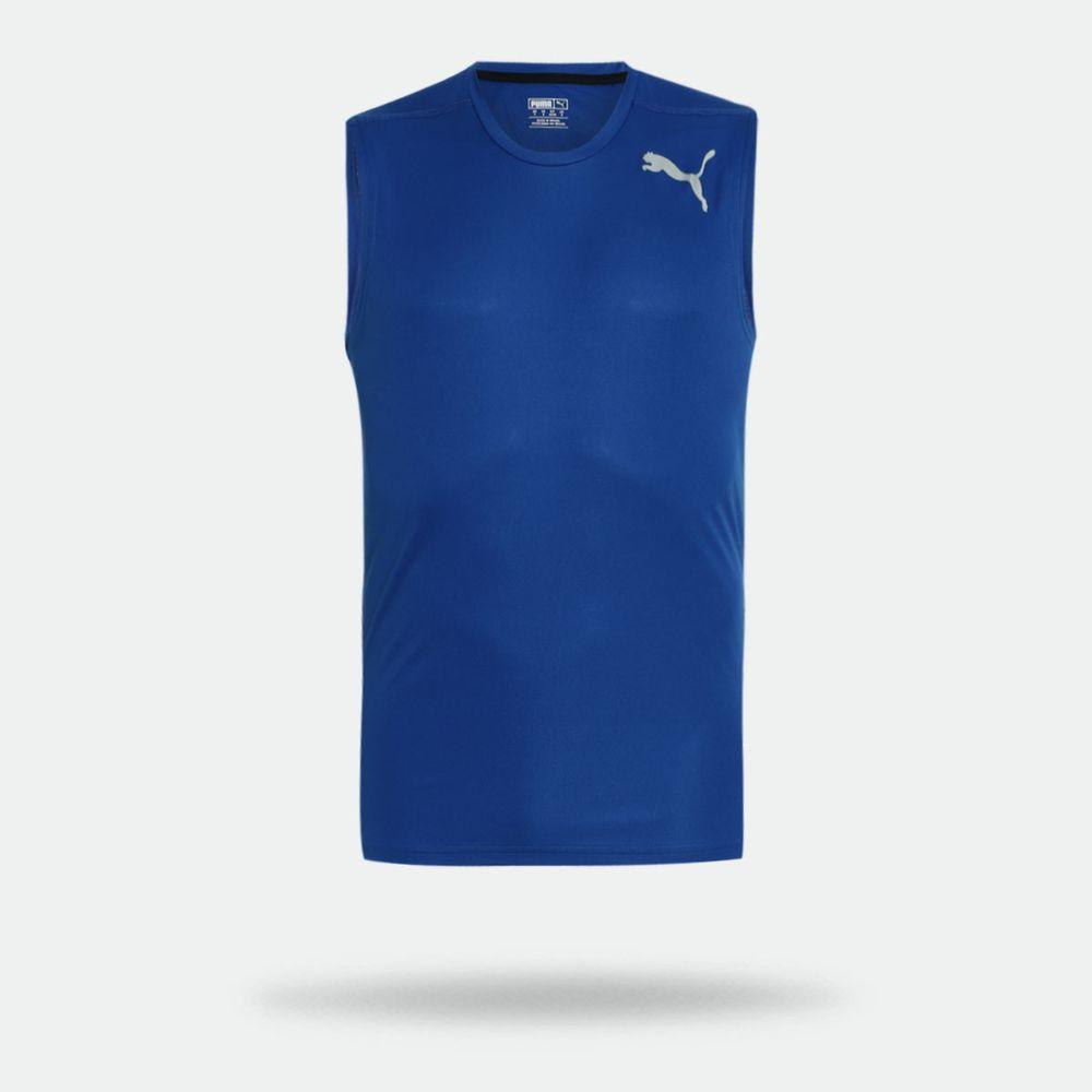 Camiseta Regata Puma Essential Sleeveless Azul Masculina Azul ... f0c61ca6de0