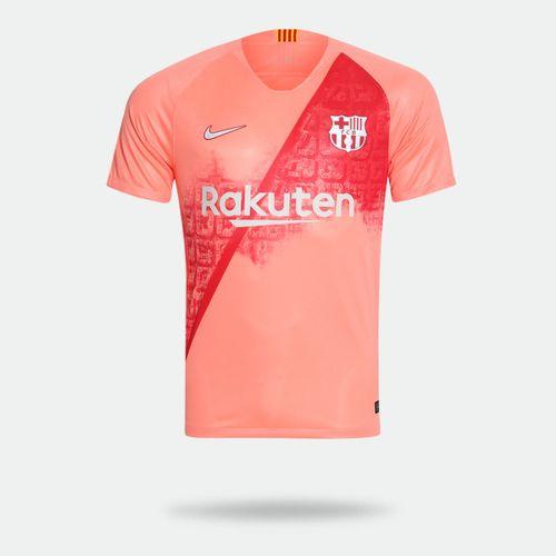 d32eb74465 Camisa Nike Barcelona 2018 2019 III Torcedor Rosa Masculina